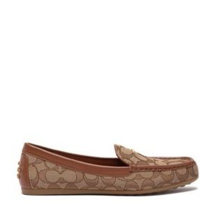 NWT Coach Lock Up Driver khaki loafer slip ons 5